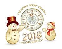 Ano novo feliz 2018 ilustração royalty free