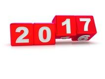 Ano novo feliz 2017 Imagem de Stock Royalty Free