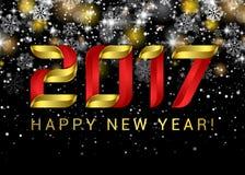 Ano novo feliz 2017 Abstração preta do espaço Ano novo feliz ilustração royalty free