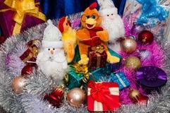 Ano novo feliz, ano do galo Imagem de Stock
