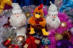 Ano novo feliz, ano do galo Imagens de Stock Royalty Free