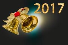 Ano novo feliz 2017 anos no fundo festivo do borrão abstrato Fotografia de Stock Royalty Free