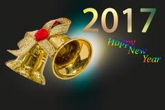 Ano novo feliz 2017 anos no fundo festivo do borrão abstrato Foto de Stock Royalty Free