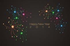 Ano novo feliz 2014, bandeira, contexto, fundo, cartaz Imagens de Stock