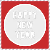 Ano novo feliz card1 de cumprimento Imagem de Stock