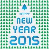 Ano novo feliz 2015 card9 de cumprimento Imagens de Stock Royalty Free