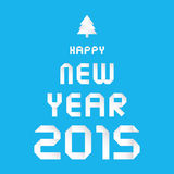 Ano novo feliz 2015 card1 de cumprimento Fotografia de Stock
