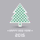 Ano novo feliz 2015 card2 de cumprimento Foto de Stock