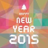 Ano novo feliz 2015 card5 de cumprimento Foto de Stock Royalty Free