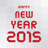 Ano novo feliz 2015 card3 de cumprimento Imagens de Stock