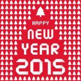 Ano novo feliz 2015 card8 de cumprimento Fotos de Stock
