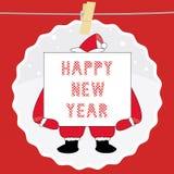 Ano novo feliz card7 de cumprimento Foto de Stock Royalty Free
