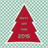 Ano novo feliz 2015 card11 de cumprimento Foto de Stock
