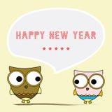 Ano novo feliz card6 de cumprimento Foto de Stock Royalty Free