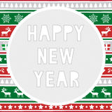 Ano novo feliz card8 de cumprimento Fotografia de Stock Royalty Free