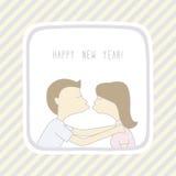 Ano novo feliz card11 de cumprimento Fotografia de Stock Royalty Free