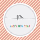 Ano novo feliz card12 de cumprimento Imagem de Stock