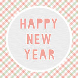 Ano novo feliz card14 de cumprimento Imagens de Stock