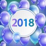 Ano novo feliz 2018 - cartão Imagem de Stock Royalty Free