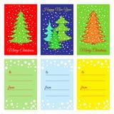 Ano novo feliz Cartões imprimíveis Fotografia de Stock
