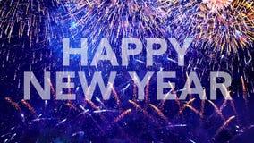Ano novo feliz, cartão video estoque