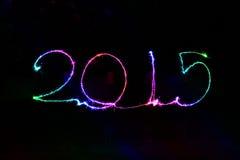 Ano novo feliz - chuveirinho 2015 Imagem de Stock