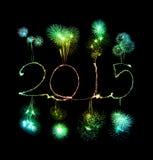 Ano novo feliz - chuveirinho 2015 Fotos de Stock