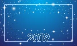 Ano novo feliz colorido 2019 ilustração do vetor