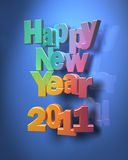 Ano novo feliz colorido Imagens de Stock Royalty Free