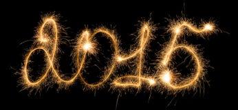 Ano novo feliz - 2015 com chuveirinhos Fotos de Stock