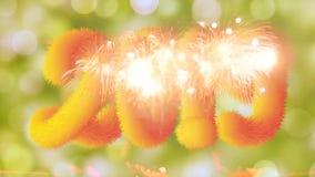 Ano novo feliz 2019 com efeito da luz vídeos de arquivo