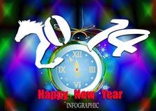 Ano novo feliz criativo 2014 Foto de Stock Royalty Free