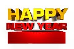 Ano novo feliz 2019 3D ilustração do vetor