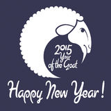 Ano novo feliz da cabra! Imagem de Stock Royalty Free