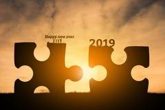 Ano novo feliz 2019 da família fotos de stock