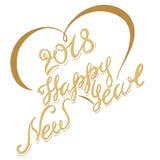 Ano novo feliz da inscrição Foto de Stock
