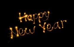 Ano novo feliz da inscrição Imagens de Stock Royalty Free