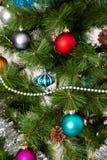 ano novo feliz das decorações da Natal-árvore Fotos de Stock Royalty Free