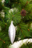 ano novo feliz das decorações da Natal-árvore Imagens de Stock