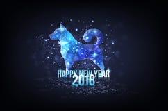 Ano novo feliz 2018 - ano de cão Imagens de Stock Royalty Free