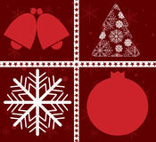 Ano novo feliz de cartão de Natal Imagem de Stock