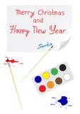 Ano novo feliz de papel Imagem de Stock