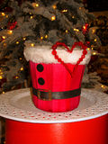 Ano novo feliz 2017 A decoração consiste em um coração vermelho com bas Fotos de Stock Royalty Free