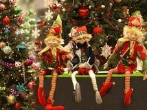 Ano novo feliz, decorações coloridas bonitas da celebração imagens de stock