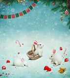 Ano novo feliz do cartão! Fotos de Stock