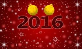 Ano novo feliz 2016 do cartão Fotos de Stock Royalty Free