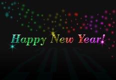 Ano novo feliz do cartão Fotografia de Stock Royalty Free