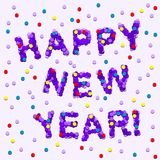Ano novo feliz do Confetti Imagens de Stock Royalty Free