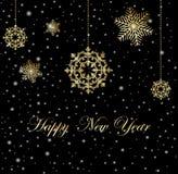 Ano novo feliz do Feliz Natal Imagem de Stock