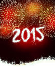 Ano novo feliz do fogo de artifício 2015 Fotografia de Stock Royalty Free